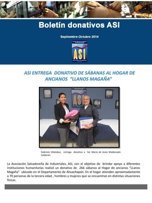Boletin Donativos ASI
