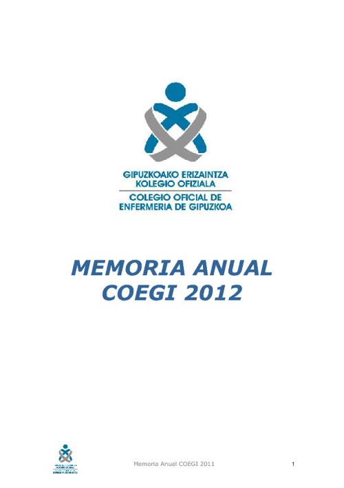 MEMORIA DE GESTION COEGI 2012