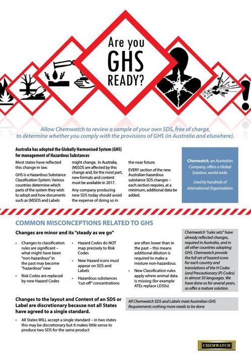 GHS Ready Brochure Australia v2