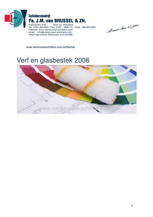 Basis en verfbestek 2006