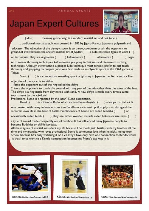 Japan Expert Project: Martial Arts