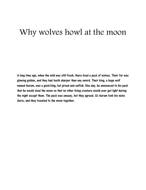 Why wolves howl at the moon