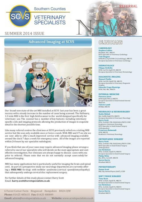 SCVS newsletter Summer14