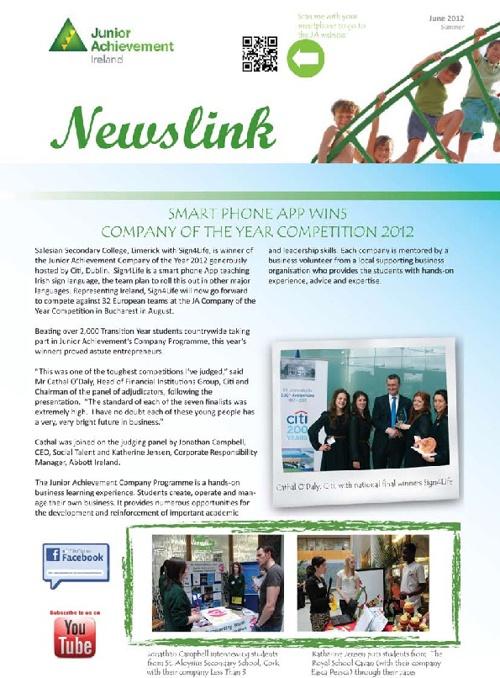 Junior Achievement Newslink June 2012