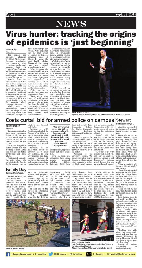 Sept. 22 issue of the Legacy