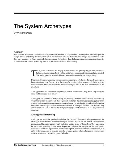 the system archetypes