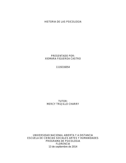 Cartilla Historia de la Psicologia