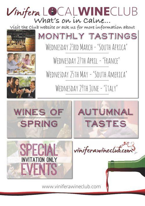 Local Wine Club Calne Poster Mar 16