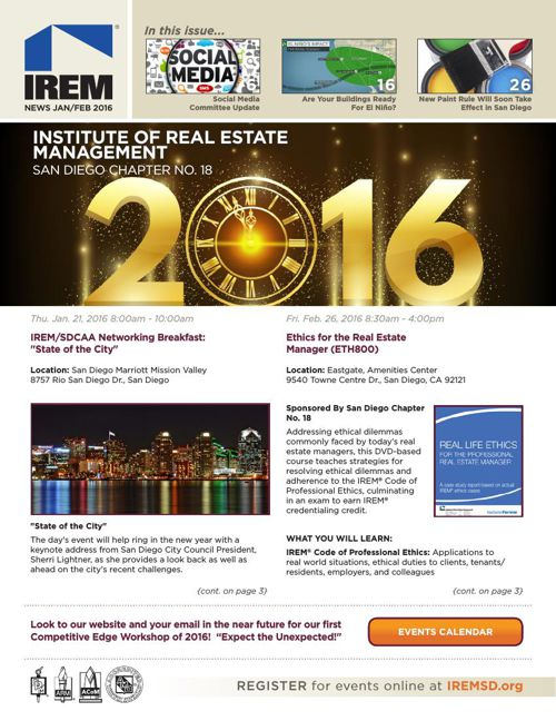 IREMSD Jan/Feb 2016 Newsletter