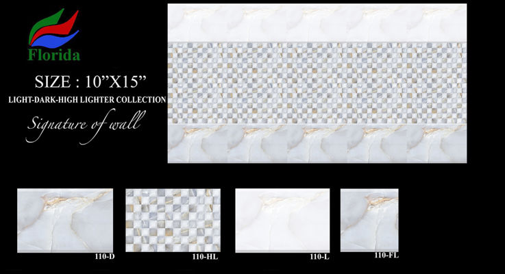 10x15 Digital Wall Tiles - Florida Ceramic