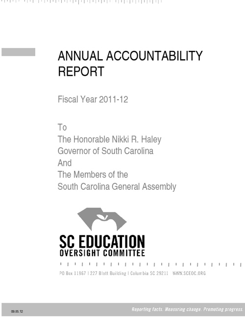 EOC Annual Accountability Report, 2011-2012