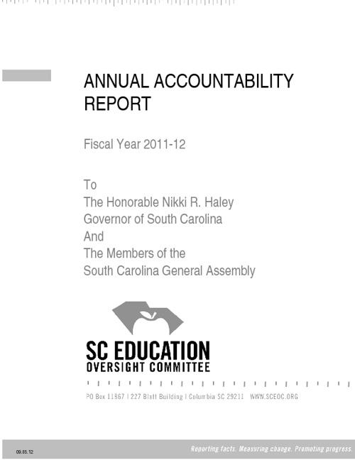EOC Annual Accountability Report, 2011-2012