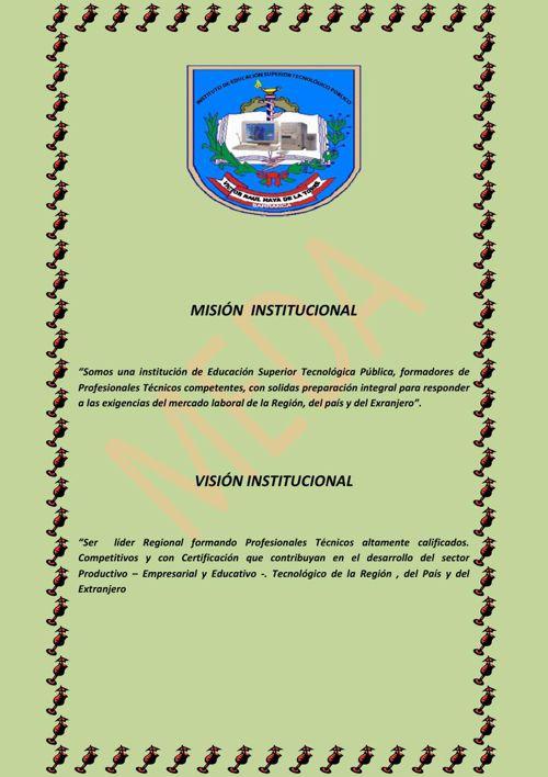 MISIÓN  INSTITUCIONAL elvira