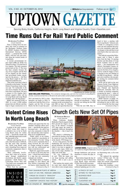 Uptown Gazette  |  October 26, 2012