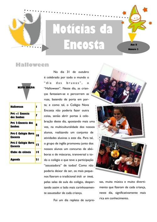 Newsletter de outubro 2013