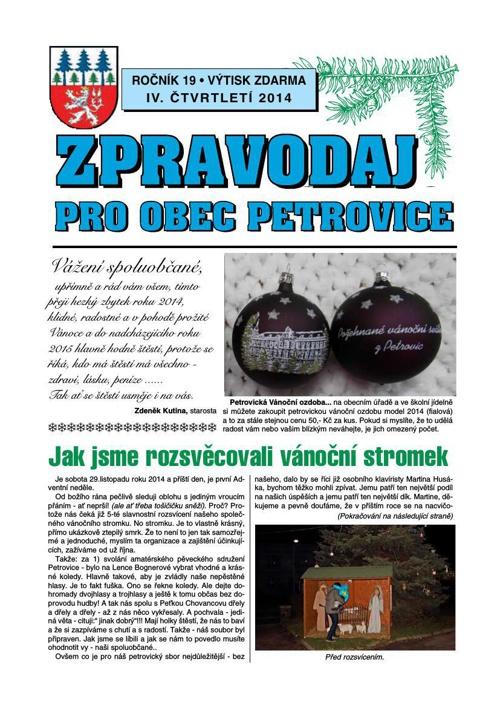 Zpravodaj pro Obec Petrovice / 4/14