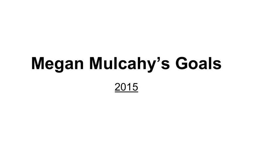 Goal-Megan Mulcahy