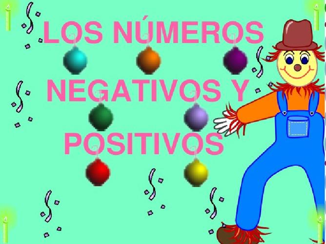 Los números negativos y positivos