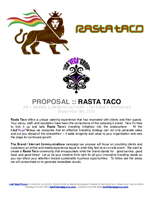 Copy of Rasta Taco Proposal 2