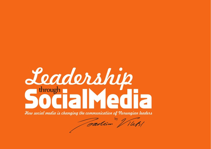 Thesis report on leadership through social media