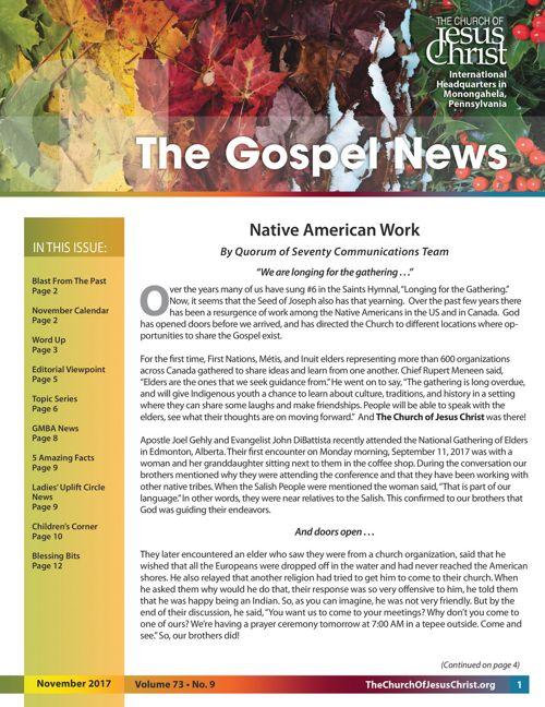 Gospel News November 2017