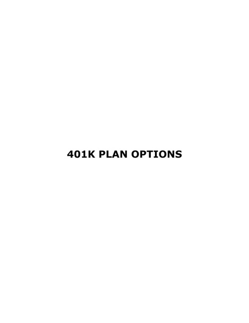 401k Plan Options: Recession Proof Your 401k