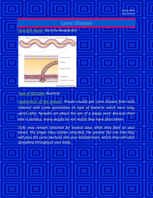 SaujasN5&RuthK5- Lyme Disease and Pneumonia