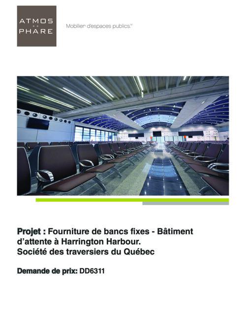 Presentation_BernuAero_Fourniture Bancs Fixes_Bâtiment d'attente