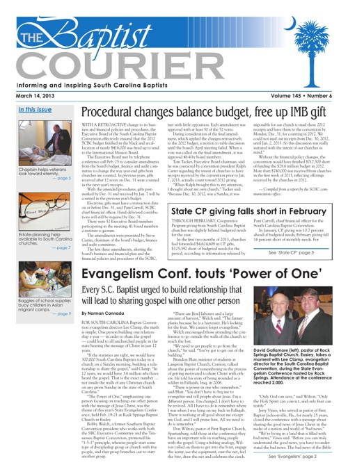 Baptist Courier March 14 2013
