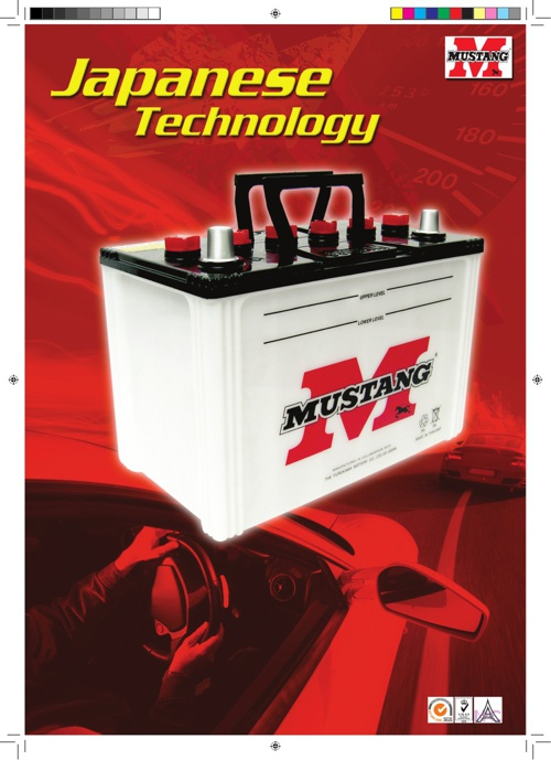 Mustang Dry Charged Battery - Thailand
