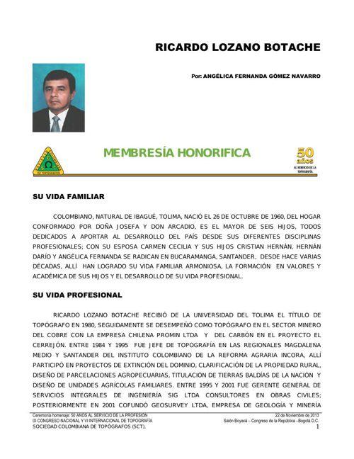 07_Biografia Ricardo Lozano Botache   -  2013