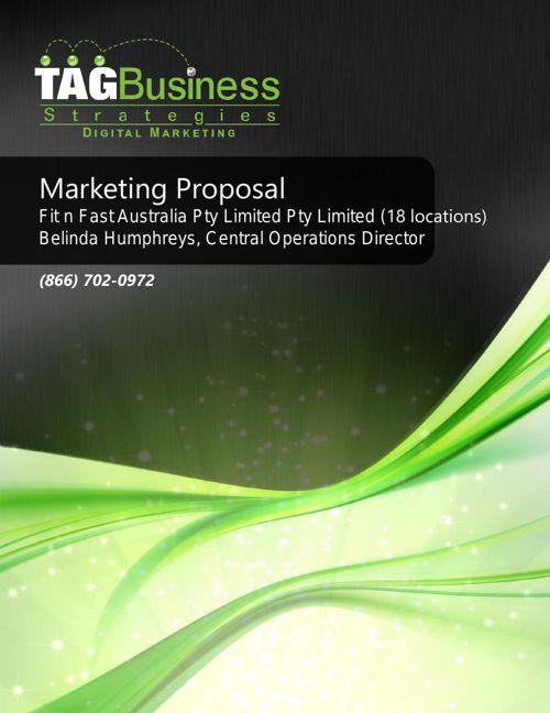 Fit N Fast Australia Marketing Proposal_20150409