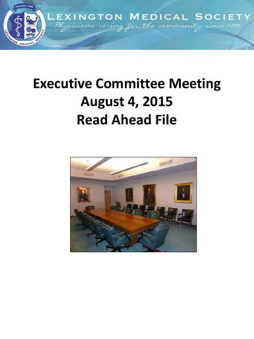 EXCOM July 14 Read ahead