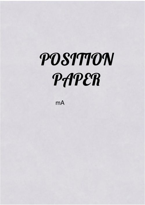 Copy of Position Paper