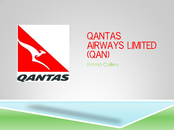QANTAS Airways Limited (QAN)