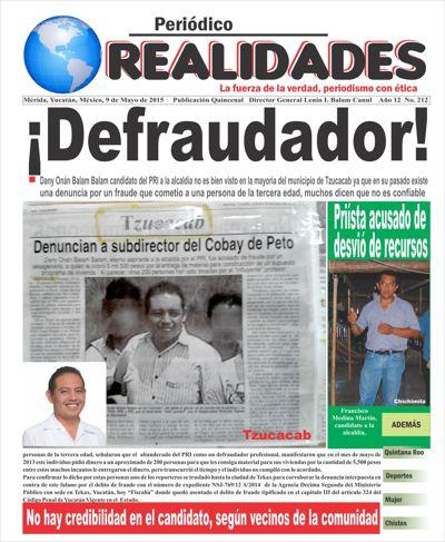Periódico Realidades, Edición 212