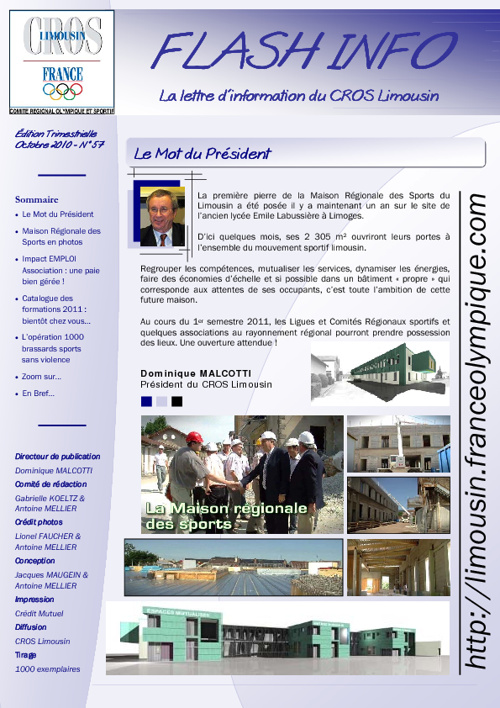 Flash Info N° 57 - Octobre 2010