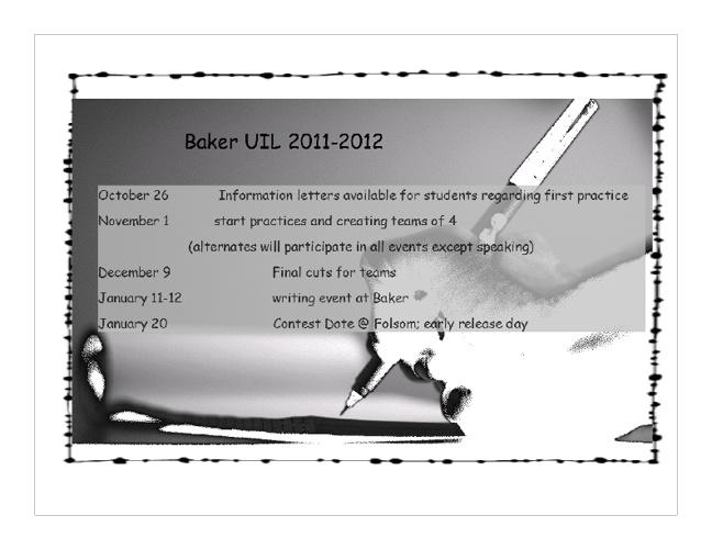 Parent Information UIL