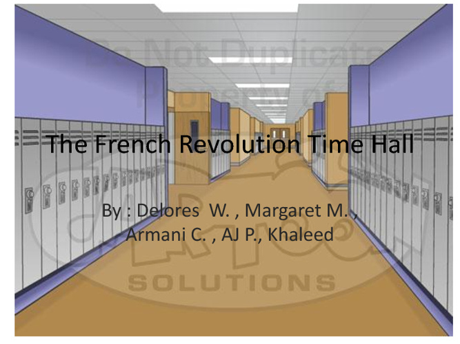 The French revoloution (hwh3)