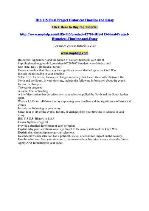 historical timeline and essay Free essay: running head: historical development of nursing timeline 1 historical development of nursing timeline jill dawson, bsn, rn, ibclc nur/513 may 7.