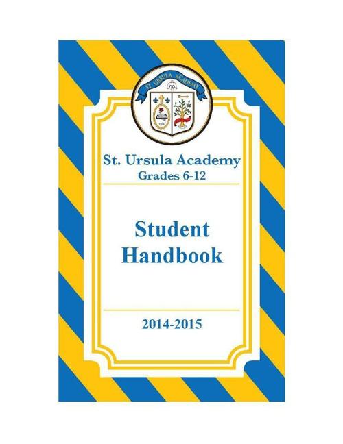 2014-2015 FINAL Student Handbook Reformatted