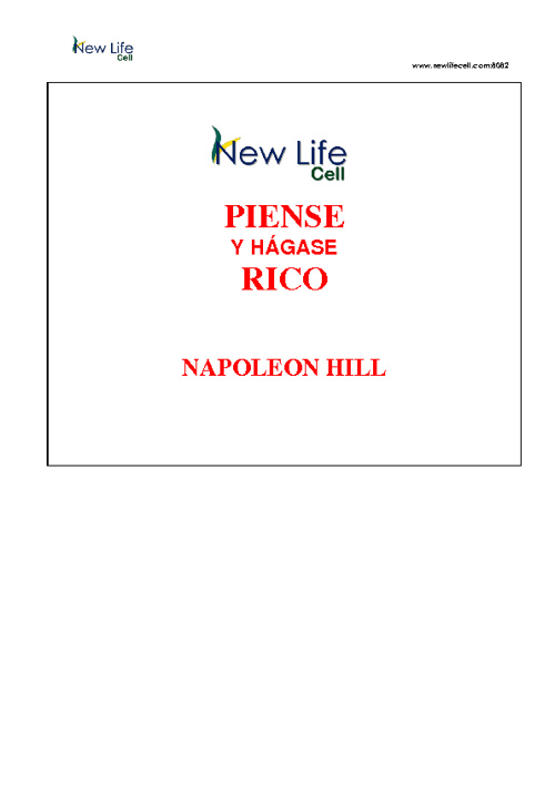 Libro-Piense y hágase rico – Napoleón Hill (NLC)
