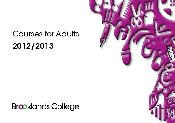 Courses For Adults 2012/2013
