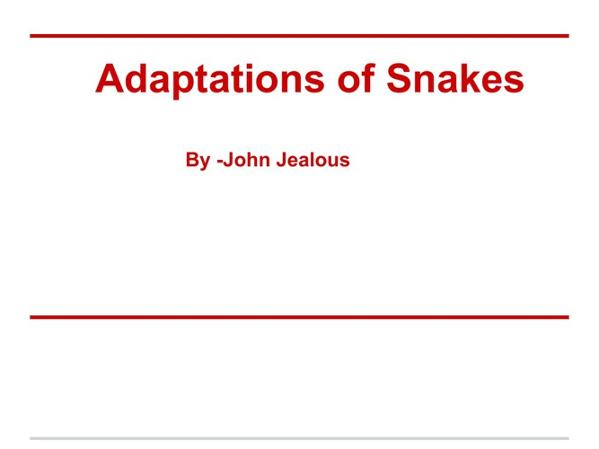 snakes by.john