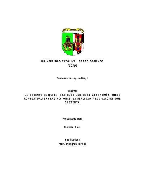 Dionisia Virginia Diaz Cordero_Ensayo Autonomia docente