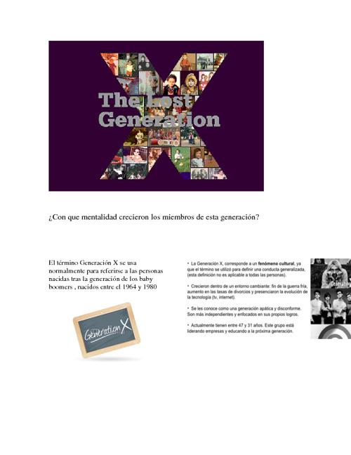 Generacion X /LOS DESMADRUGADOS