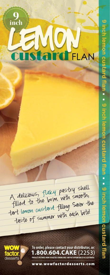 """WOW! Factor Desserts 9"""" Lemon Custard Flan"""