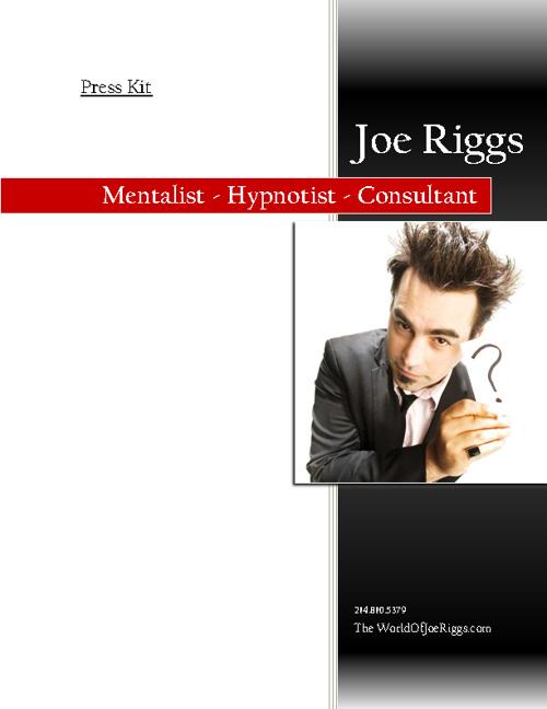 Joe Riggs - Press Kit