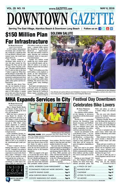 Downtown Gazette  |  May 6, 2016
