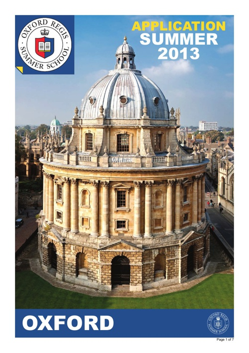 Oxford Brochure 2013